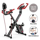 Best Upright Exercise Bikes - pooboo Folding Exercise Bike Upright Convertible Magnetic Bike Review