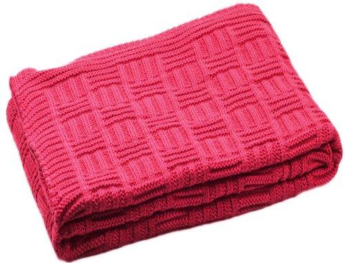Baby Decke aus 100% Bio Baumwolle kba Rot 80 x 90 cm