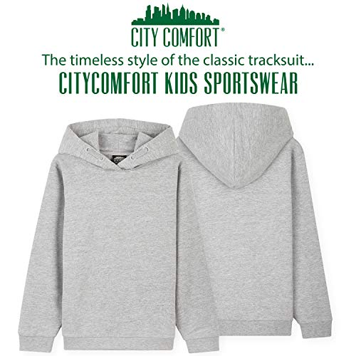 CityComfort Boys Tracksuit, Hoodies And Joggers For Kids 3-14 Years (Light Grey, 9-10 Years)