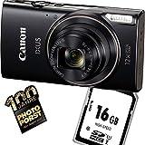 1A Photo PORST Starter Angebot Canon Ixus 285 HS Schwarz+SD 16 GB Speicherkarte