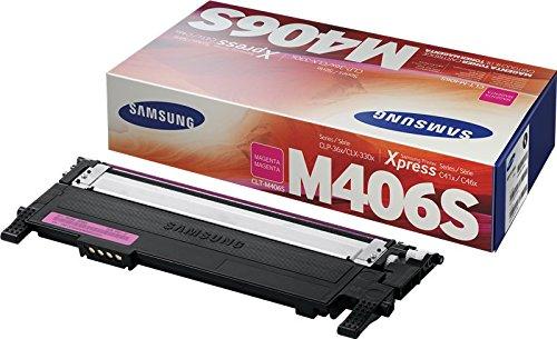 Samsung CLT-M406S SU252A Cartuccia Toner Standard Originale, 1.000 Pagine, Compatibile con Samsung Laserjet serie CLP 360, 365 e CLX 3305, Serie Xpress C410, C430 e C46, Magenta