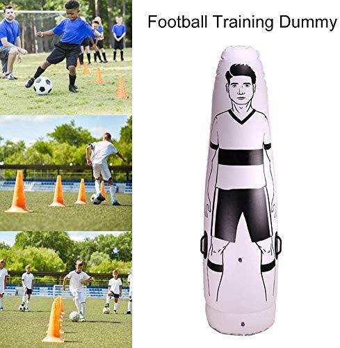 Aufblasbare Football Dummy Defender Training Mannequin Fußballtraining Tor Torwart Ständer Tumbler Fußball Zug Dummy Tumbler für Üben, Dribbeln und Passing Drills