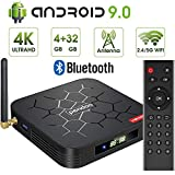 Android 9.0 TV Box, Pendoo X6 PRO Android TV Box 4GB RAM 32GB