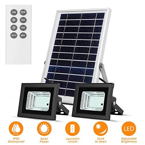 Luces Solares de Inundación con Paneles Solares de 19x 29cm 42 LED Impermeables para Iluminación Solar al Aire Libre para Garaje, Piscina, Calle, Señal, Billboard
