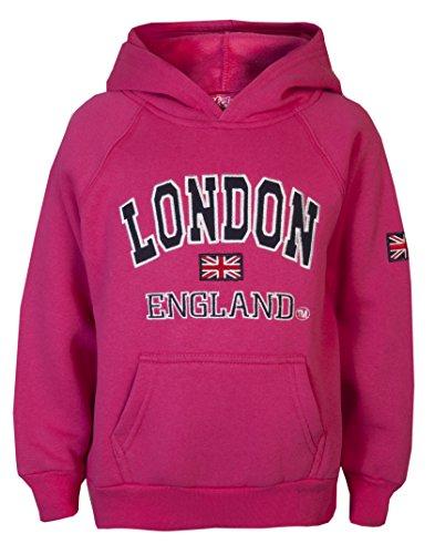 Sweat-shirt à capuche pour enfant London Love Lola - Unisexe - Rose - 10 ans