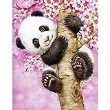 DTNO.I 5D Diamond Painting Kit Gran panda rosa (30 x 40cm) DIY Fabricación de mosaicos pintura de...