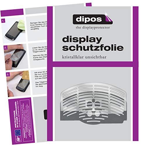 dipos 2X klare Schutzfolie kompatibel mit DeLonghi Magnifica Esam 3000.B EX1 Tropfblech I Kaffeevollautomaten I Abtropfblech I Abtropfgitter kompatibel mit Kaffee-Maschine