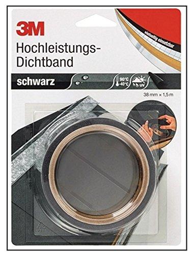 3M DICHT38S Hochleistungs-Dichtband 4411, 38 mm x 1,5 m, schwarz