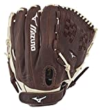 Mizuno Franchise Fastpitch Softball Glove Series, Coffee/Silver Trident Web, 12.5', Left (Right Hand Throw)