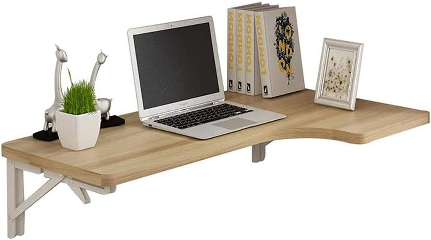Wall-Mounted Folding Table, Dining Table, Wall Table, Corner Computer Table, Wooden (Size   80x60x35CM)