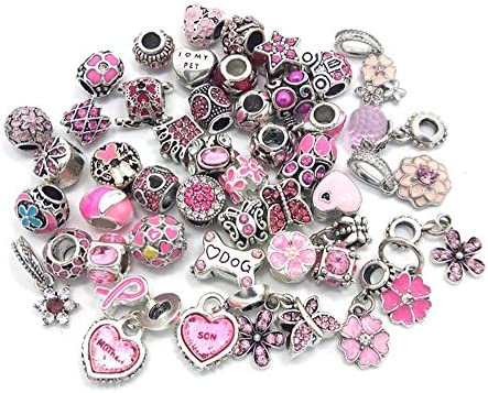 YIQIFLY 40pcs Jewelry Making Charms Rhinesotone Beads Assorted Colors and Styles Randomly 01 product image