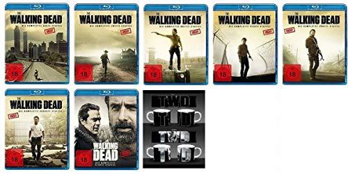 The Walking Dead Staffel 1-7 (1+2+3+4+5+6+7) [Blu-ray Set] + The Walking Dead Kaffeetasse