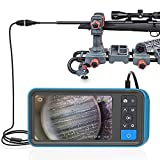 Teslong Rifle Borescope with 4.5'' Screen, 0.2inch Gun Cleaning Camera Fits .20 Caliber & Larger Hunting Shooting Firearms, Gun Barrel Scope with Ring Lights, Right Angle Mirror & 36'' Camera Probe