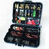CFtrum 128 stk/box Angeln Angehen Box Kit, inkl. Jig Haken, Bullet Bass Werfen Sinker Gewichte,...