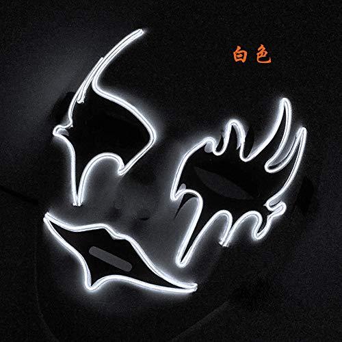 Masker voor Halloween-masker, om met de hand te tekenen. A Wit licht.