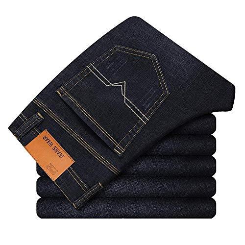 Jeans Vaqueros Pantalon Pantalones Vaqueros De Moda para Hombre Pantalones Vaqueros Elásticos Casuales De Negocios Pantalones Clásicos Pantalones De Mezclilla Hombre Negro Azul-Negro_1102_38