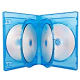 AcePlus Multi 6-Disc Disc Blu-Ray Case in 22mm Super Thick Thickness with Inner Hinge Tray - Single Case (1 Piece)