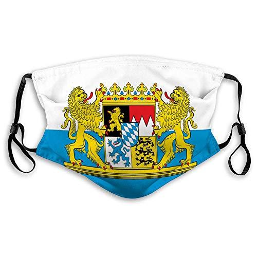 Mundschutz Mundschal Flagge von Bayern In Atmungsaktive Staubdichte Wiederverwendbarer Bnadana Balaclava mit Filter