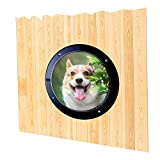 Dog Fence Window, Pet Peek Porthole Window Acrylic Dome Clear View for Fence Door Gate