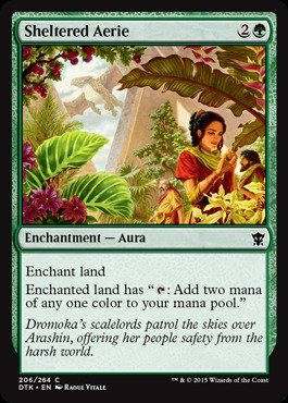 Magic The Gathering - Sheltered Aerie (206/264) - Dragons of Tarkir