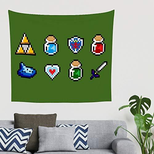 O5KFD&8 Zelda-Element Musterdruck Wandteppich schön Universell Fotografischer Hintergrund - Spiel Liebhaber White 200x150cm