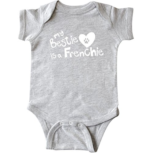 inktastic Bestie Frenchie Infant Creeper 6 Months Heather Grey 263d5