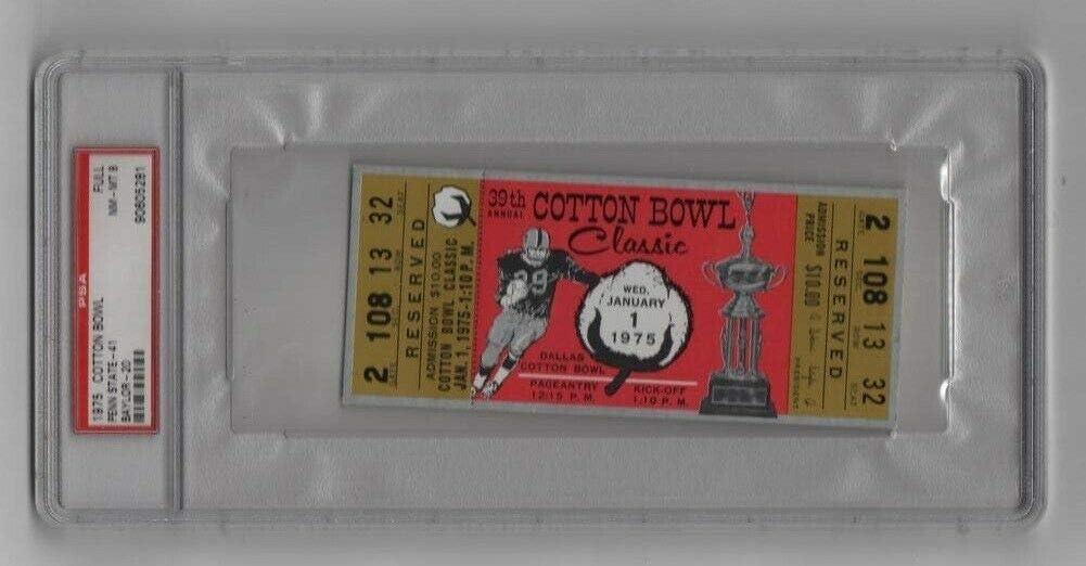 1975 Brand Cheap Sale Venue Cotton Large-scale sale Bowl Full Ticket Penn State Baylor Bears Hig 1 Pop v
