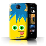 Stuff4 Phone Case for HTC Desire 310 Monsters Yellow Design