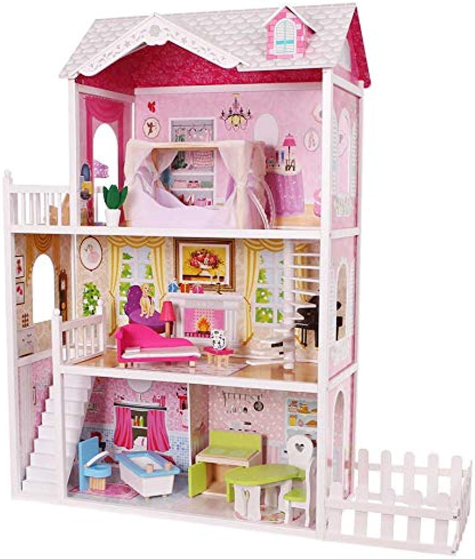 Doll 30cm House -14pc Furn.84x38x123,5cm Doll 30cm House -14pc Furn.84x38x123,5cm