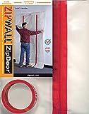 ZIPWALL ZipDoor ZDC Commercial Dust Barrier Zipper Door Kit, 1 Pack, red
