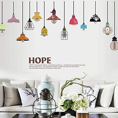 Gudojk muurstickers, lamp, hope, slaapkamer, decoratie, eetkamer, trekker, afneembaar, zelfklevend, doe-het-zelf, wandsticker, decoratie voor woonkamer, slaapkamer, decoratie