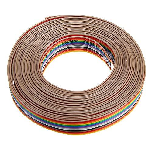 YALIXING JJBHD Electronic Accessoires & Supplies 5m 1,27mm Pitch-Band-Kabel 14P Flacher Farbe Regenbogen-Band-Kabel-Kabel-Rainbow-Kabel Um Ihnen die Qualität der Exzellenz bereitzustelle