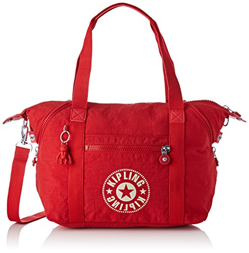 Kipling Art Nc, Women's Satchel, Red (Lively Red), 20x44x27 cm (B x H T)