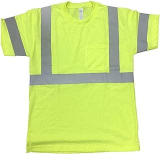 FITIN HIGH Visibility T Shirt ANSI Class 3 Reflective Safety Lime Orange Short Long Sleeve Hi Vis