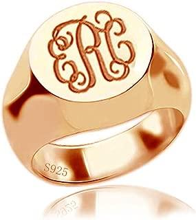 mens rose gold signet ring