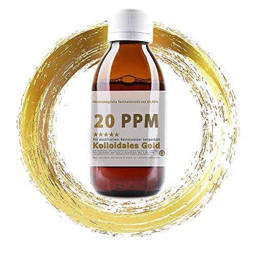 Kolloidales Gold 20PPM Goldwasser 1000ml - hoch konzentriert (Reinheitsstufe 99,99%) (1000ml)