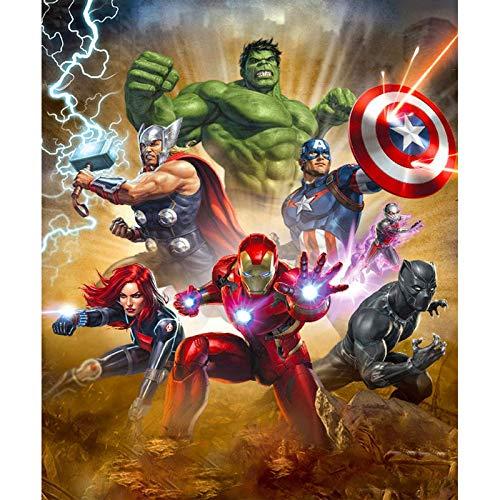 5D DIY Marvel Super Hero Full Diamond Bordado Punto de Cruz Redondo Diamante Pintura Arte Artesanía/Lienzo Decoración de Pared Marvel Super Hero4 30 x 40 cm