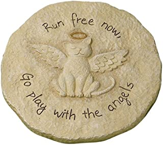 """Best Grasslands Road Beloved """"Run free now"""" Cat with Halo Remembrance Stepping Stone Plaque Review"""