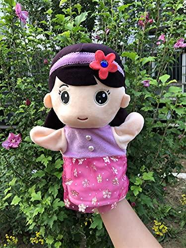 YSJJRGN Marionetas de Mano Lindo niño y Horquilla Girasol niña Pareja Mano títeres para niños pequeños Aprendizaje temprano títere de Juguete