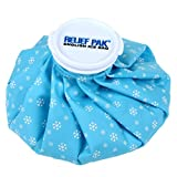 Relief Pak English-Style Ice Bag / Pack Cold Therapy to Reduce Swelling, Decrease Pain and Offer Cold Compression Relief from Bruises, Migraines, Aches, Swellings, Headaches and Fever, 6' Diameter