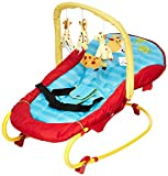 Hauck Bungee Deluxe hamacas bebes, mecedora con movimiento, respaldo ajustable, sistema de arnes, arco de juegos, de 0 meses hasta 9 kg, antivuelco, portátil - multicolor