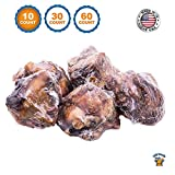 123 Treats - Dog Bones Made in the USA (10 Count) 100% Natural Knee Caps Beef Chews For Dogs –...