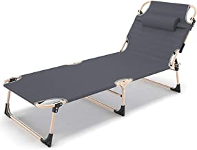 Simple Folding Chair,Adjustable Folding Bed/Single Bed Office Bed Siesta Bed Nursing Bed Camp Bed Portable Tent Bed