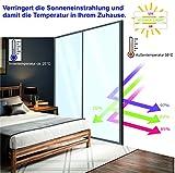 X-Solutions | UV-Schutz Sonnenschutzfolie Fenster innen | Spiegelfolie Selbstklebend | Selbsthaftend, Silber reflektierende Fensterfolie | Selbstklebende Sichtschutz, Sonnenschutz Folie | 45 x 200 cm - 5