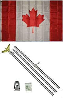 3x5 Canada Canadian Flag Aluminum Pole Kit Set 3x5 BEST Garden Outdor Decor polyester material FLAG PREMIUM Vivid Color and UV Fade Resistant