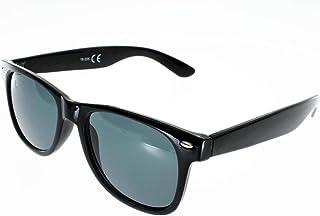 80454cf1a579d Ad Sol Lunettes de Soleil 18205 style Wayfarer Noir Brillant Mixte Indice 3