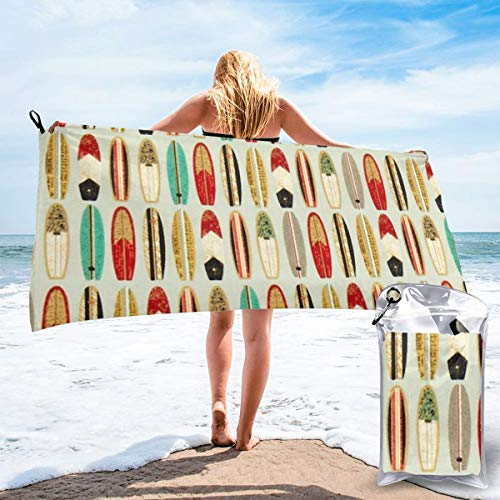 """HIUTORBF Surf The Dead Mars Monster3 Quick Dry Towel Camping with Zipper Bag for Sunbathing Best Beach Towels for Travel Sand Proof 27.5""""X55"""""""