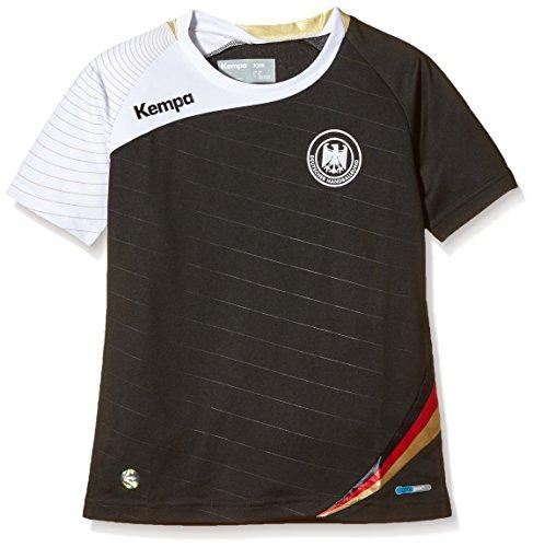 Kempa DHB Auswärtstrikot, Schwarz/Weiß/Gold, XL, 2003030021630