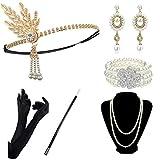 DRESHOW 1920 Accessories Année 1920 Accessoires Gatsby Costume Set Bandeau...