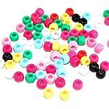 Loom Bands Buchstaben Bandz looms Buchstaben ca. 90 Stück Perlen Buchstabenbox (ca 50 Perlen Bunt)
